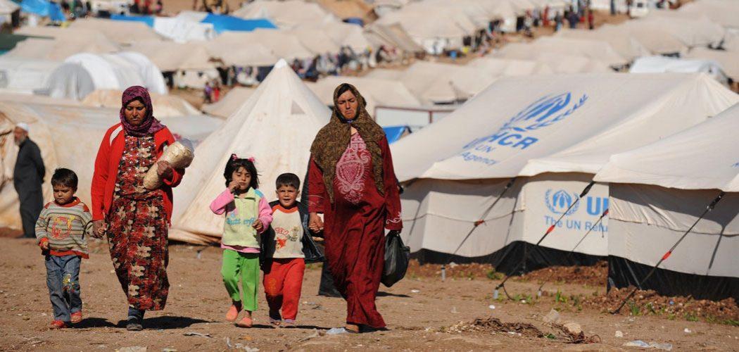 Mujeres En Un Campo De Refugiados De Siria