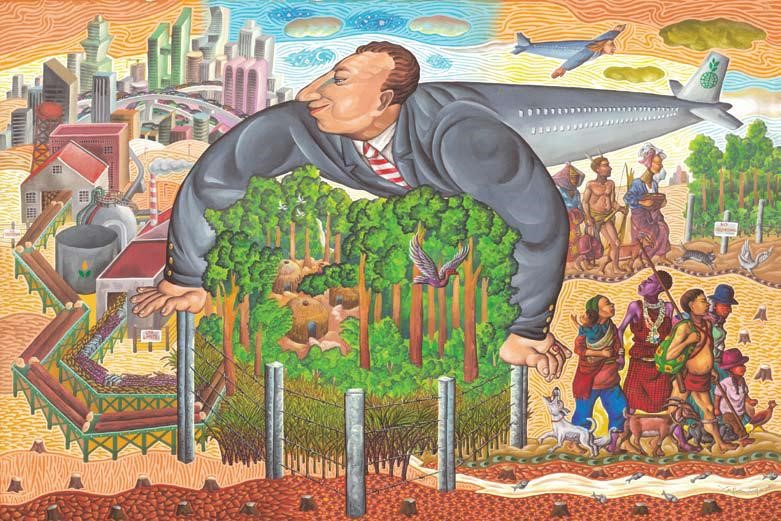 Autor: Pintor Filipino, Boy Dominguez. La Imagen Fue La Cobertura Del Journal Of Peasant Studies, Vol. 39, N°2.