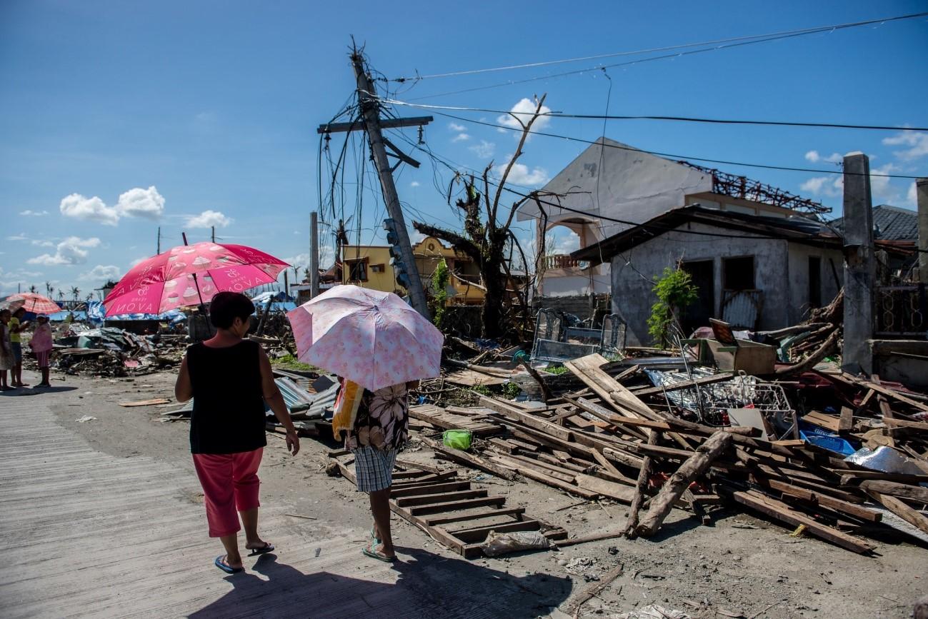 Daños causados por el Tifón Haiyan en Filipinas (Fotografía de: Asian Devlopment Bank)