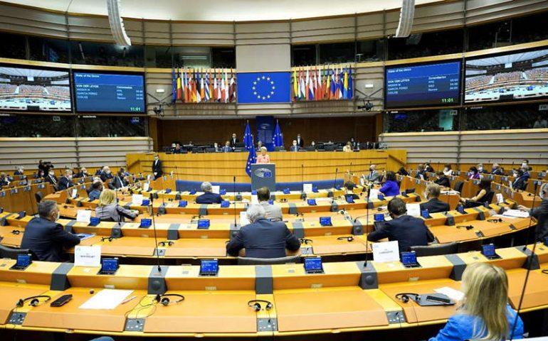 Imagen de una sesión en el Parlamento Europeo
